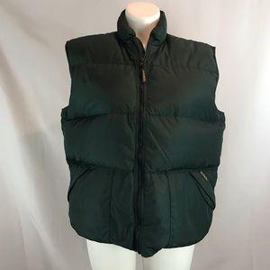 Woolrich Sz L Hunter Green Duck Down Puffer Vest